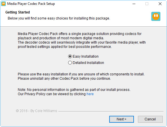 Click to view Media Player Codec Pack Plus screenshots